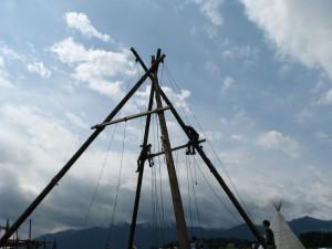 Turmbau für's Sommerlager